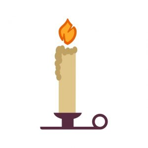 Candles Icon Creative Design Template