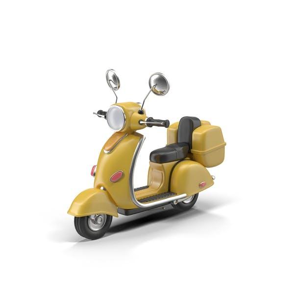 Cartoon Motor Scooter
