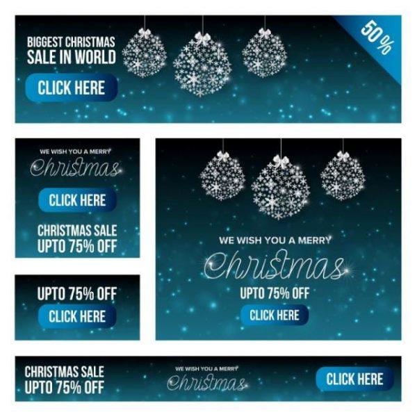 Christmas Sale Banner Set