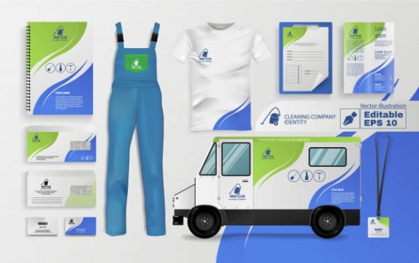 Cleaning company identity (Turbo Premium Space)