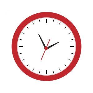 Clock Icon Creative Design Template