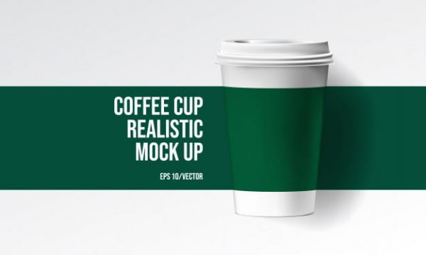 Coffee cup realistic mock up (Turbo Premium Space)