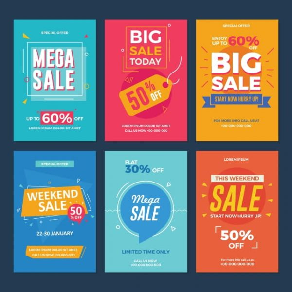 Collection Of Sale And Discount Offers Flyers (Turbo Premium Space)