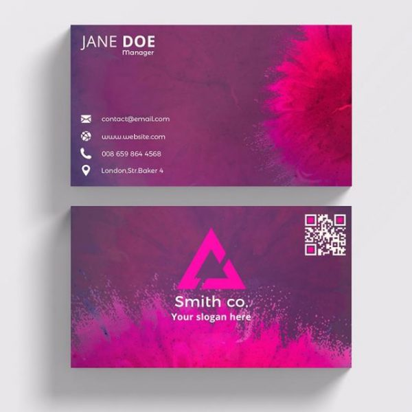 Color Abstract Business Card (Turbo Premium Space)