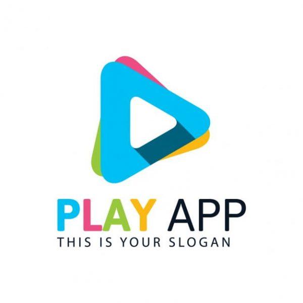 Colorful play logo (Turbo Premium Space)