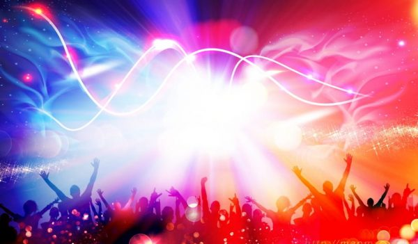 Cool Music Festival Carnival Character Silhouette Background Design (Turbo Premium Space)
