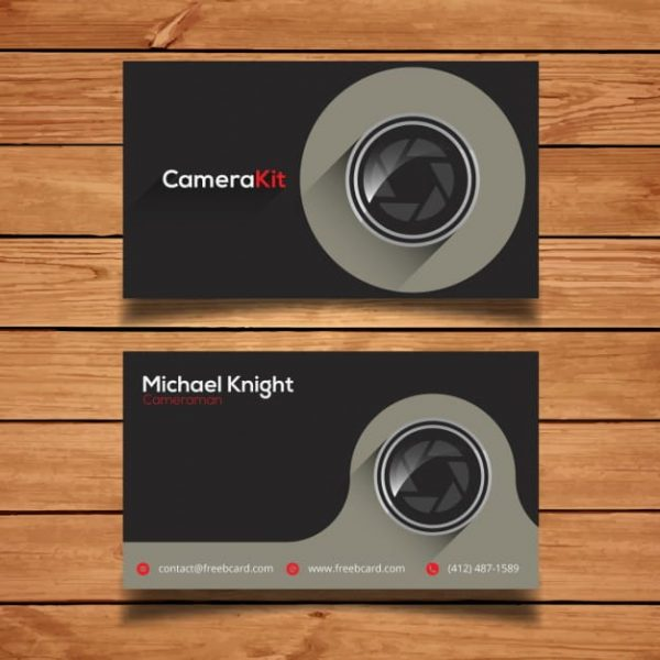 Corporate card template for photography