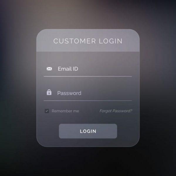 Creative dark login form (Turbo Premium Space)