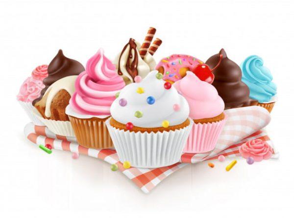 Cupcake vector 3d isolated (Turbo Premium Space)