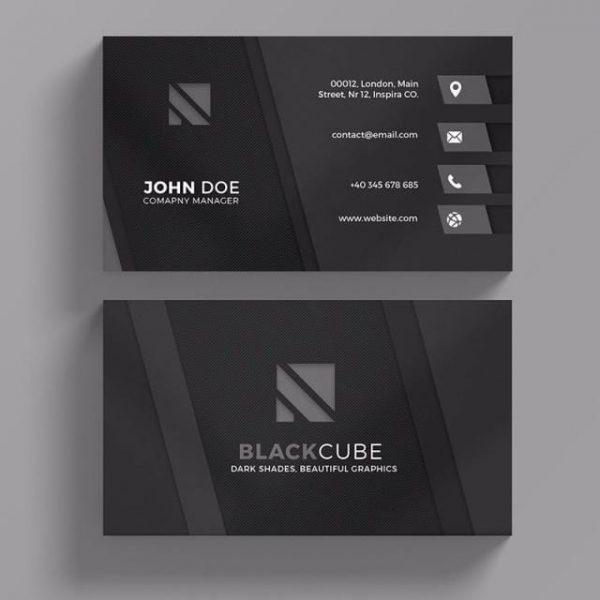 Dark Business Card Template (Turbo Premium Space)