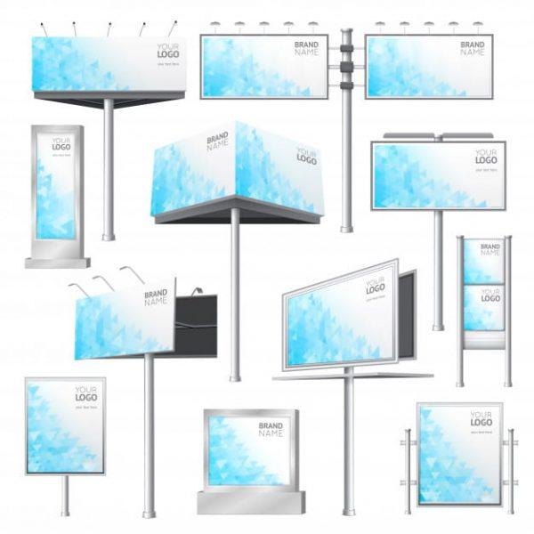 Design billboard mockup set (Turbo Premium Space)