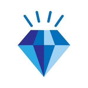 Diamond Icon Creative Design Template