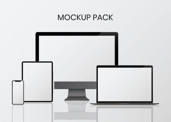 Digital device mockup set (Turbo Premium Space)