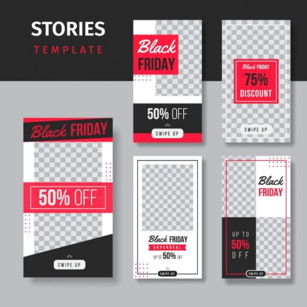 Editable Social Media Stories Template Black Friday (Turbo Premium Space)