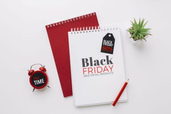 Flat lay of black friday (Turbo Premium Space)