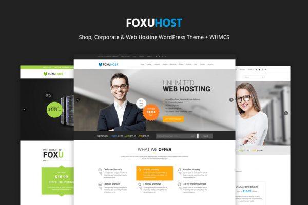 FoxuhHost - Web Hosting WordPress Theme + WHMCS