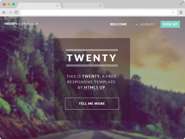 Twenty - HTML5 Business Template