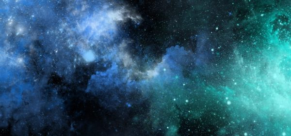 Vector Watercolor Galaxy Poster Background Template (Turbo Premium Space)