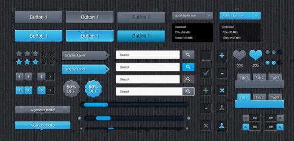 Free ui psd set (Turbo Premium Space)