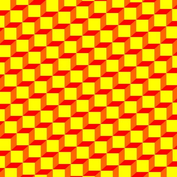 Geometric Pattern Yellow Box For Background