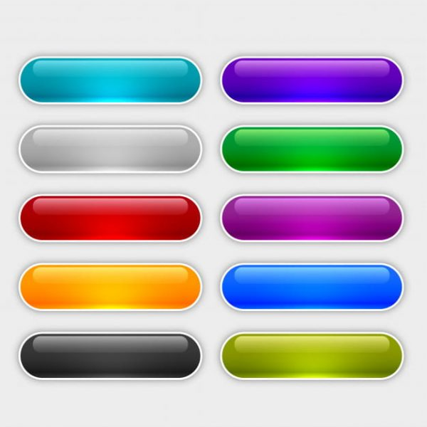 Glossy web buttons set (Turbo Premium Space)