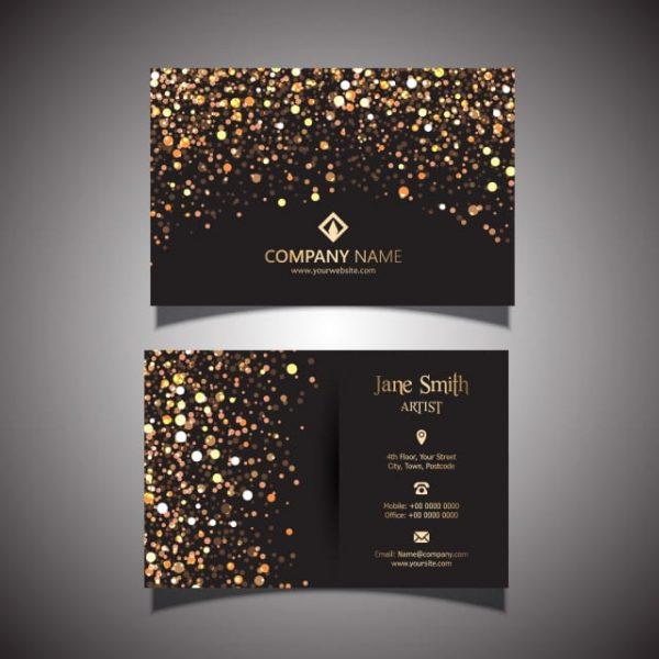 Gold Glitter Business Card (Turbo Premium Space)