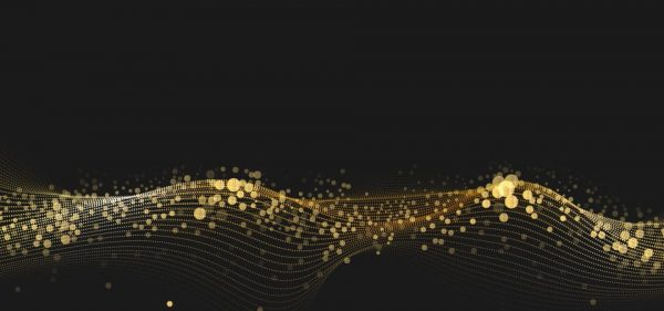 Gold Glitter Texture Isolated On Black Background (Turbo Premium Space)