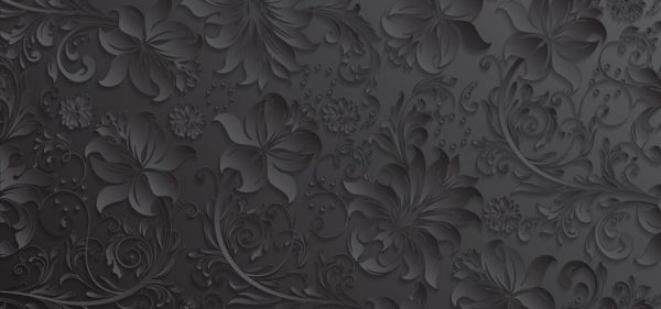 Gray Paper Cut Flowers Pattern Background (Turbo Premium Space)