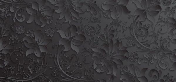 Gray Paper Cut Flowers Pattern Background