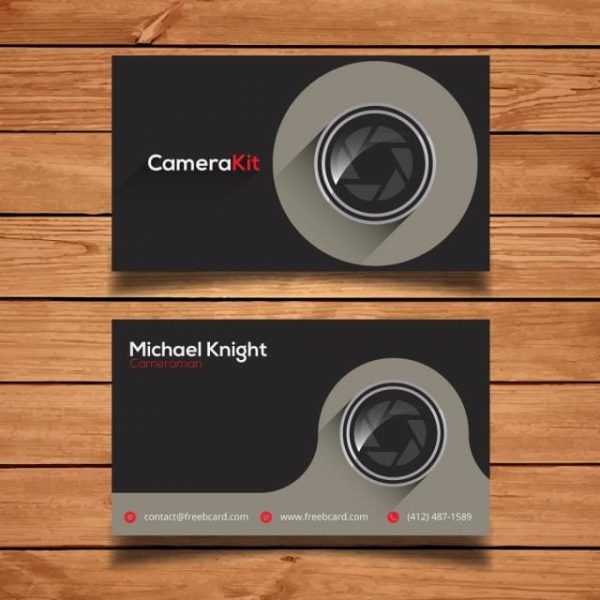 Grey Photography Business Card (Turbo Premium Space)