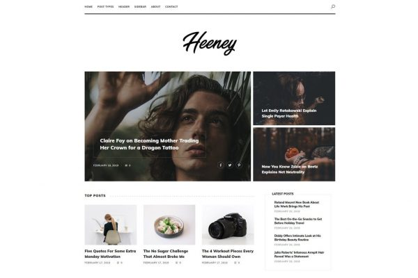 Heeney - Modern Blog HTML5 Template