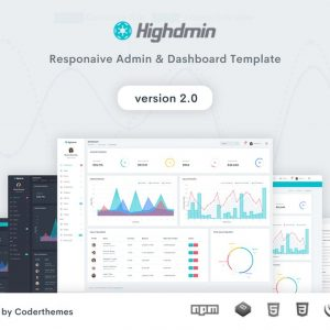 Highdmin - Responsive Bootstrap 4 Admin Dashboard