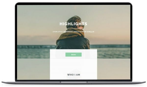 Highlights - HTML5 Resume Template