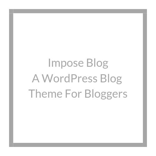 Impose - Blog Template