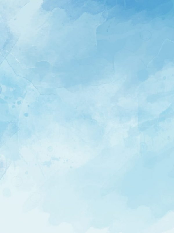 Ink Blue Sky White Clouds Hand Drawn Background Format (Turbo Premium Space)