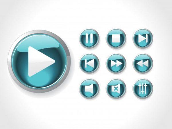 Media icon set (Turbo Premium Space)