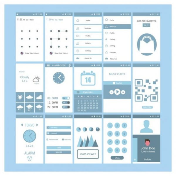 Mobile screen templates (Turbo Premium Space)