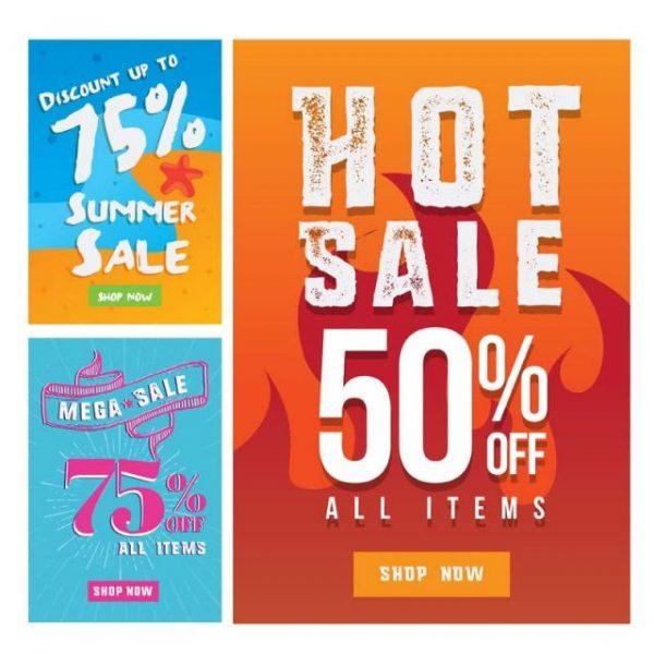 Modern Summer Sale Banner Set