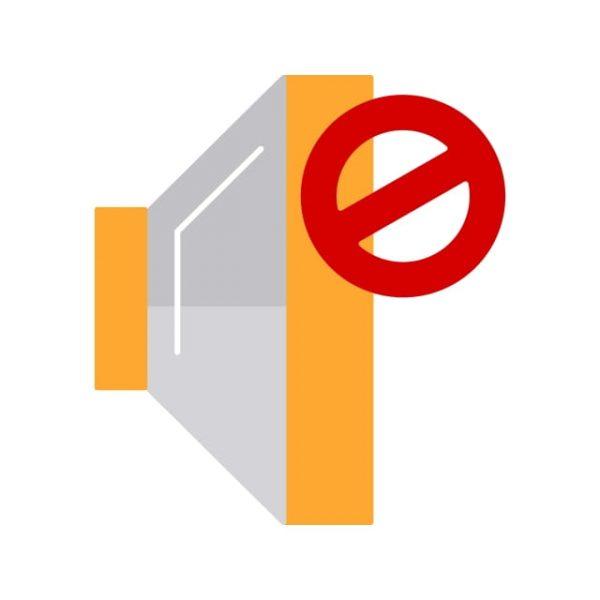 Mute Icon Creative Design Template (Turbo Premium Space)