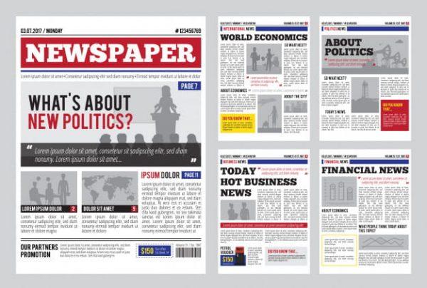 Newspaper design template (Turbo Premium Space)