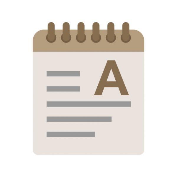 Notepad Icon Creative Design Template (Turbo Premium Space)