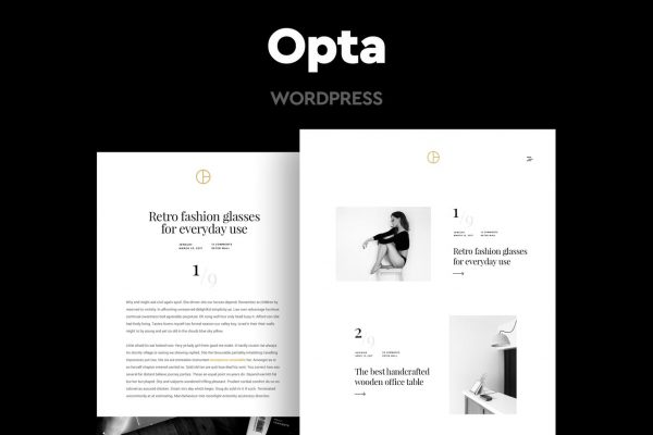 Opta - Minimal Portfolio and Photography Theme