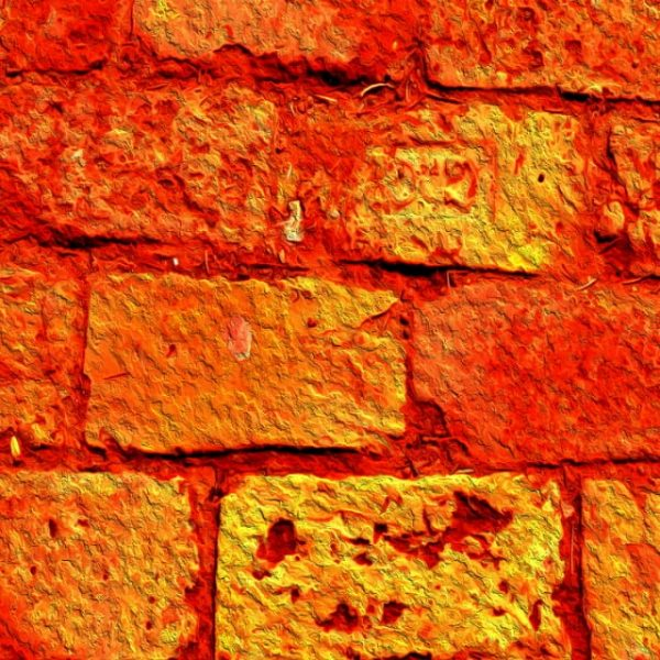 Orange Brick Background Textures With A Yellow Shine (Turbo Premium Space)