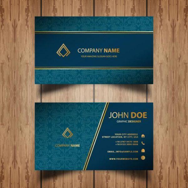 Ornamental Business Card (Turbo Premium Space)