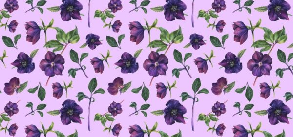 Pattern Of The Purple Flower Background (Turbo Premium Space)