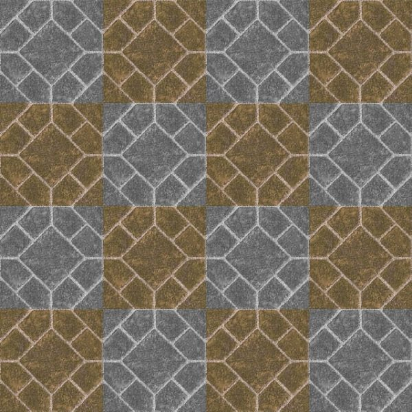 Pattern Textured Tile Grey And Brown (Turbo Premium Space)