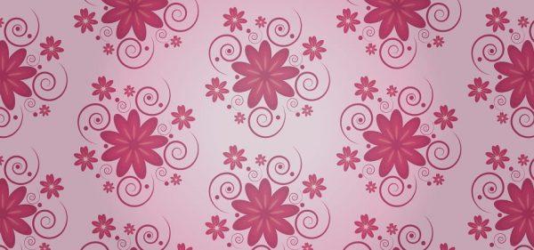 Pink Floral Pattern Background Design (Turbo Premium Space)