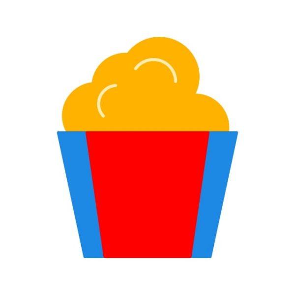 Popcorn Icon Creative Design Template (Turbo Premium Space)