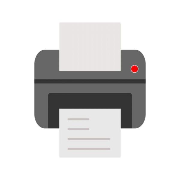 Printer Icon Creative Design Template (Turbo Premium Space)