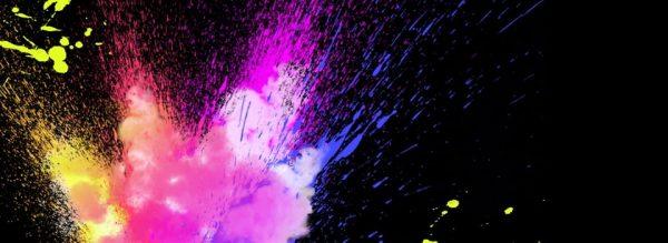 Pure Color Pigment Inkjet Splash Cool Background (Turbo Premium Space)